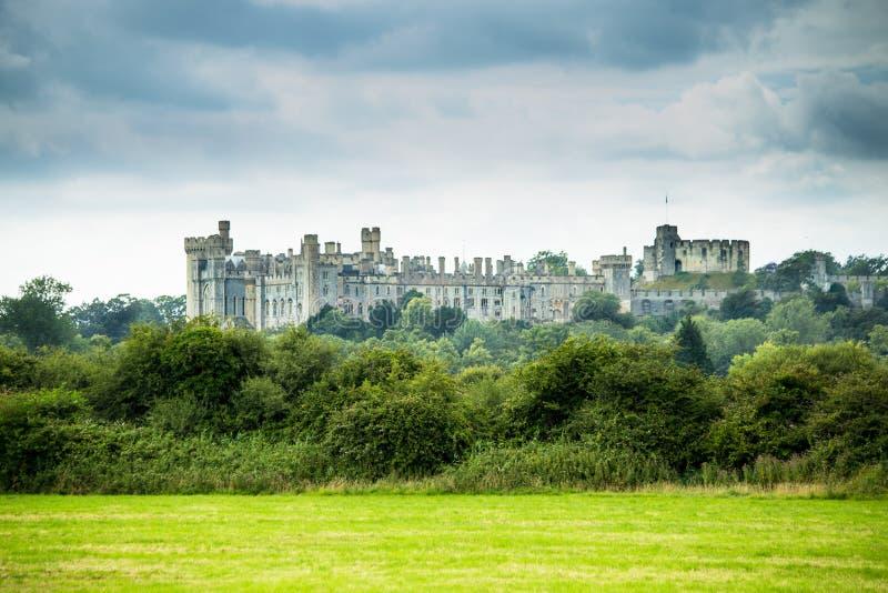 Архитектура Англия замка Arundel английская старая стоковое изображение rf