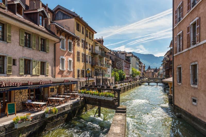 Архитектура Анси, Франции, Европы стоковое изображение