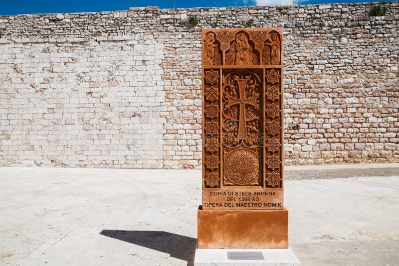 Архитектура Базилики di Сан Francesco историческая в Assisi, Италии стоковое изображение