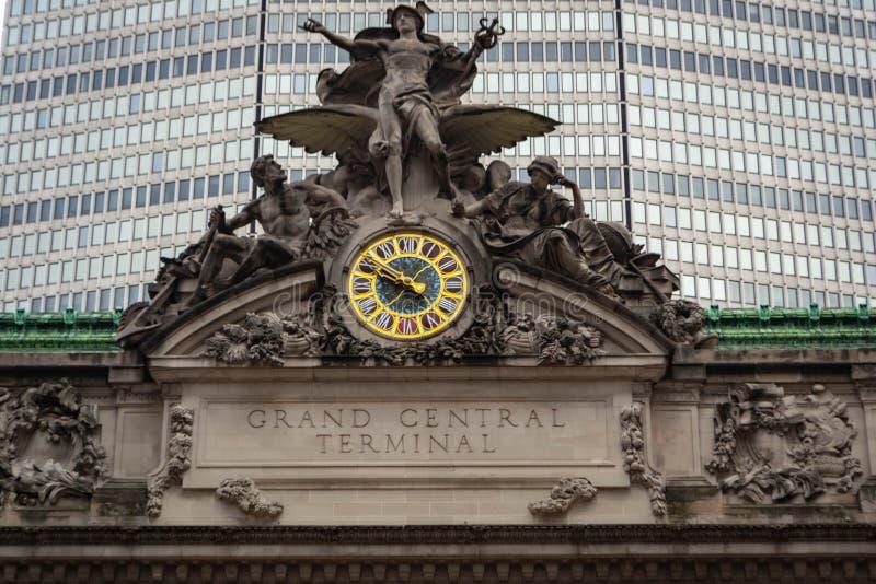 Архитектура большого центрального терминала в Нью-Йорке, США стоковое изображение