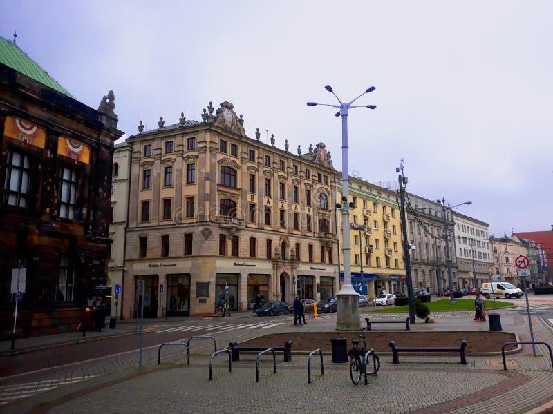 Архитектура в центре Poznan стоковые фото