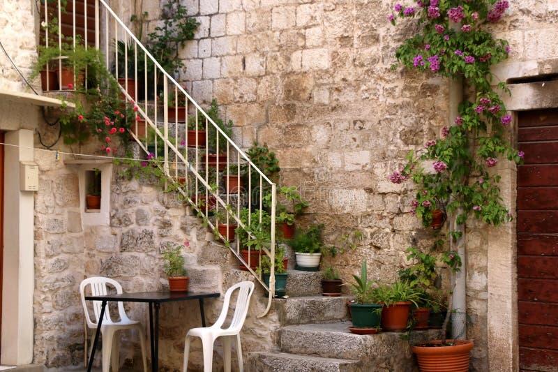 Архитектура в Trogir, Хорватии стоковое изображение