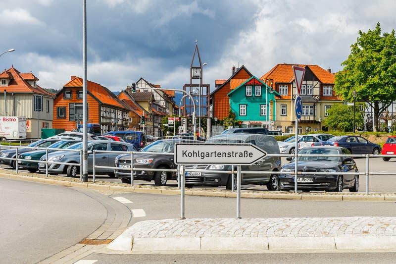 Архитектура в Wernigerode, Германии стоковые фото