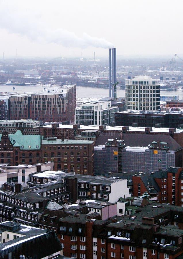 Архитектура Германии Городские пейзажи в Гамбурге r стоковые изображения