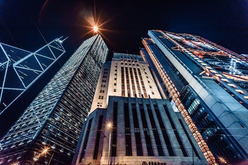 Архитектура горизонта Гонконга стоковые фото