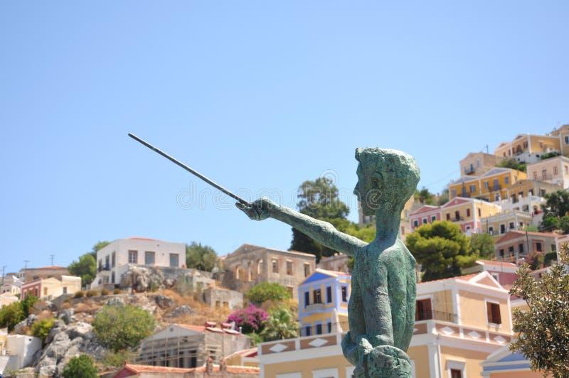 Архитектура греческой деревни стоковое фото rf