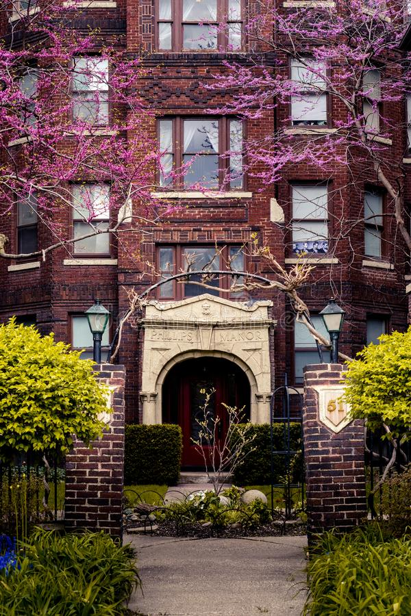 Архитектура Детройт самая точная в городе стоковая фотография
