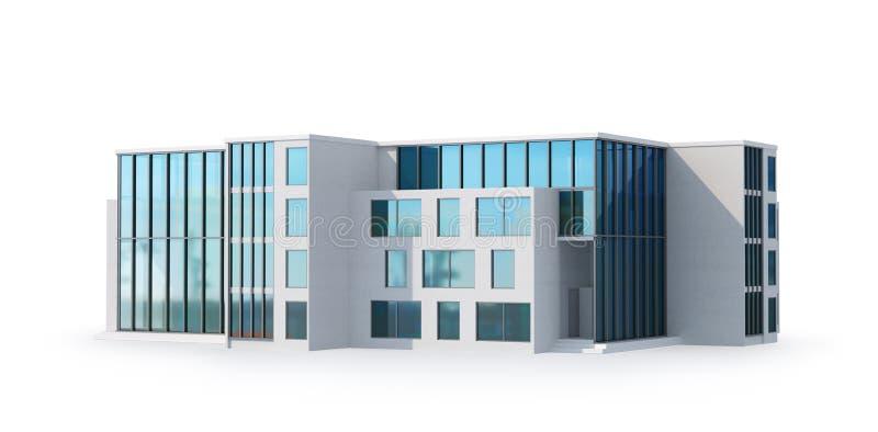 Архитектура дома Роскошный особняк со стеклянными окнами иллюстрация штока