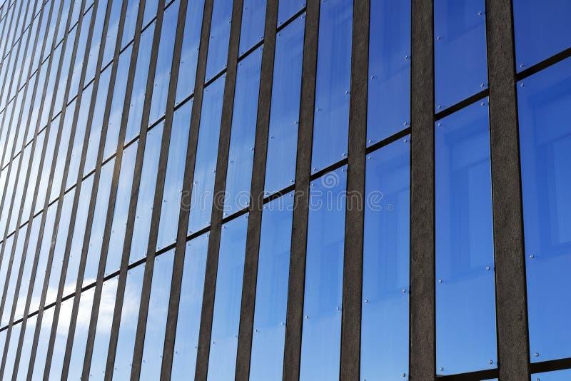 Архитектура здания фасада Modren стеклянная стоковые фотографии rf