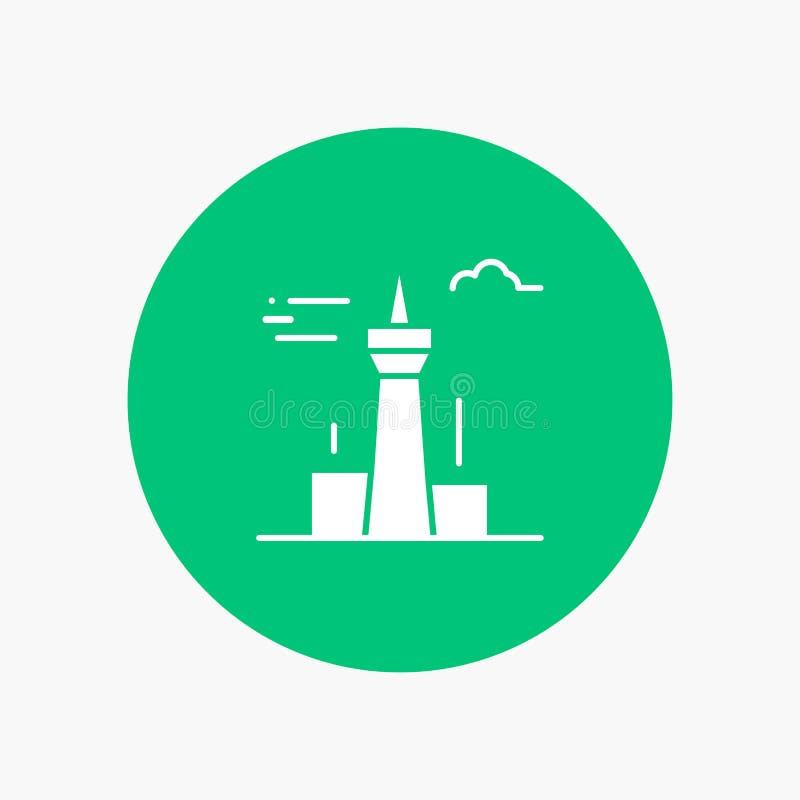 Архитектура и город, здания, Канада, башня, ориентир иллюстрация вектора