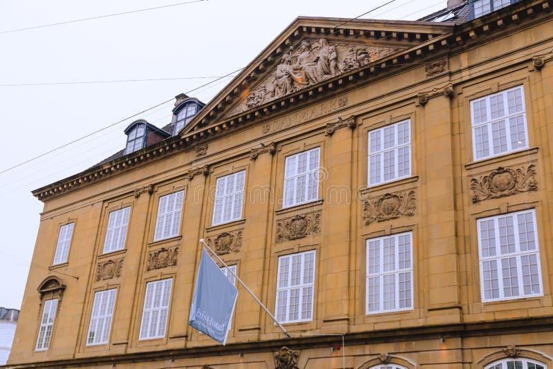 Архитектура и детали гостиницы Nobis в центре города Копенгагена стоковое изображение