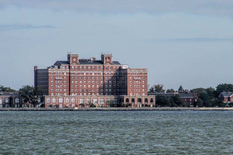 Архитектура кирпича портового района Hampton Вирджинии стоковое фото