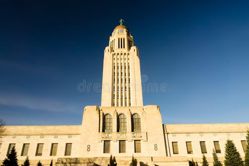 Архитектура купола правительства здания Линкольна Небраски прописная стоковые изображения rf