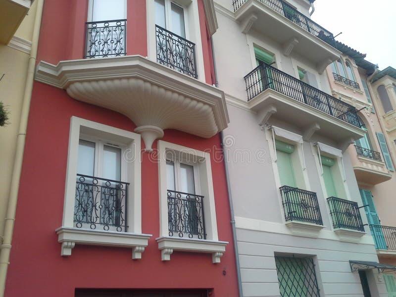 Архитектура Монако-Ville, часть типичных архитектурноакустических структур Монако стоковые фото