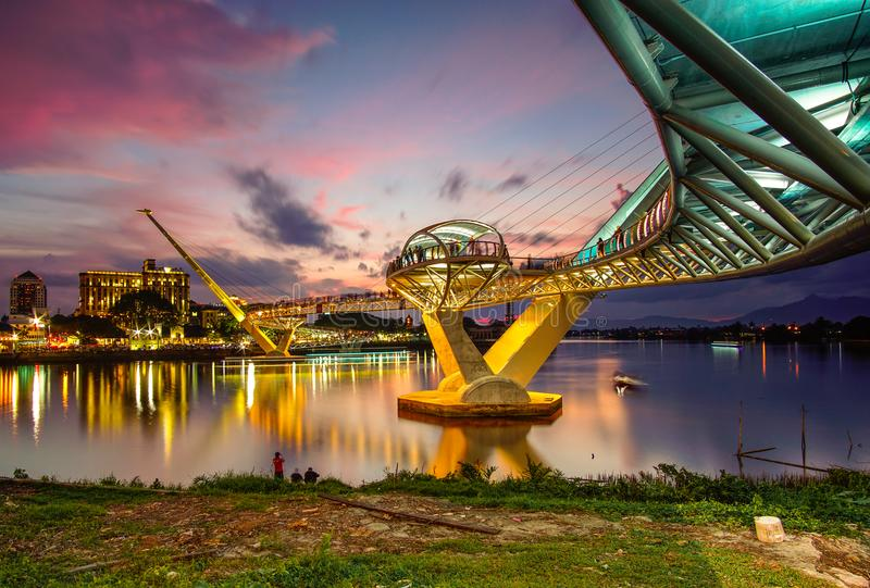 архитектура моста Ганы darul стоковое изображение rf