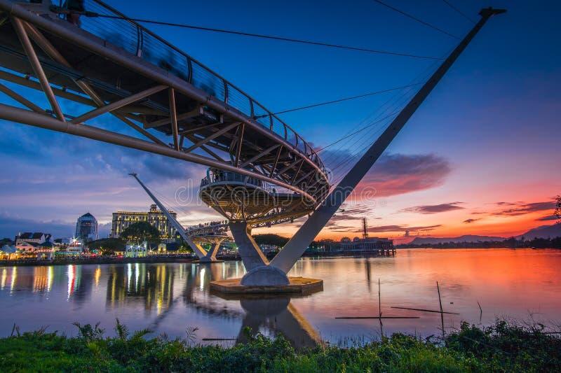 архитектура моста Ганы darul стоковое изображение