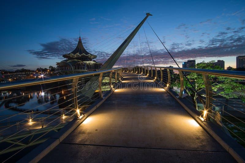 архитектура моста Ганы darul стоковое фото