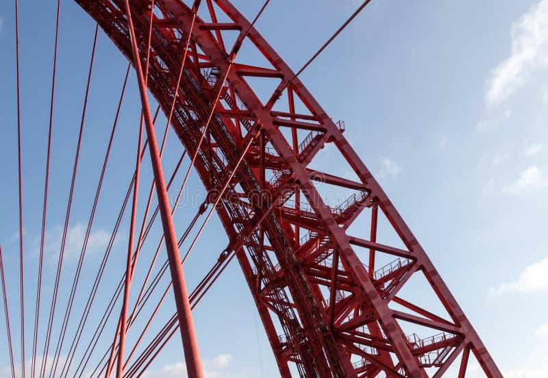 Архитектура, нося висячий мост стоковые фотографии rf