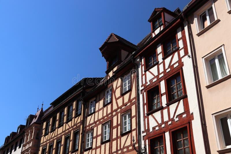 Архитектура Нюрнберга жилая стоковые фотографии rf