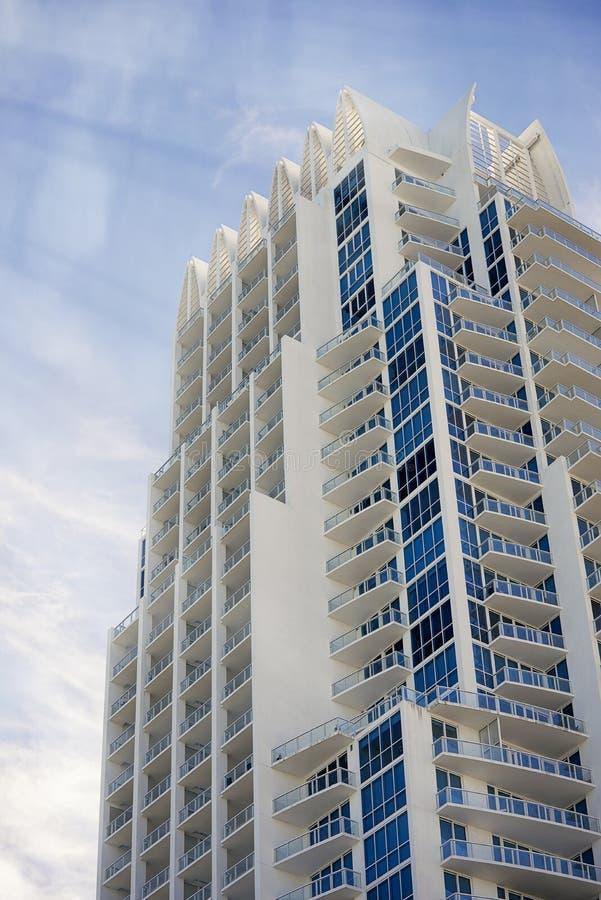 Архитектура пляжа Майами южная стоковая фотография rf