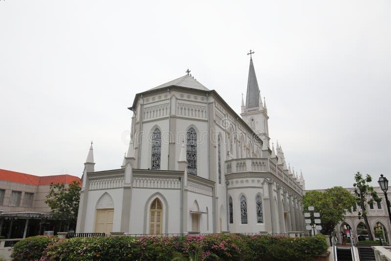Архитектура Сингапур Chijmes историческая стоковые изображения