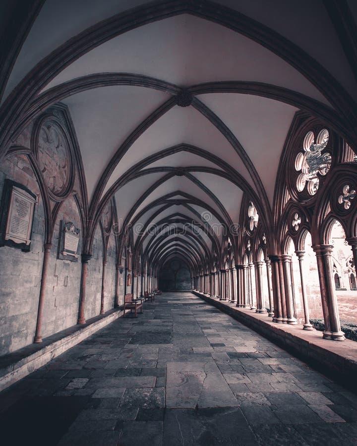 Архитектура собора Солсбери, Великобритания стоковые изображения rf