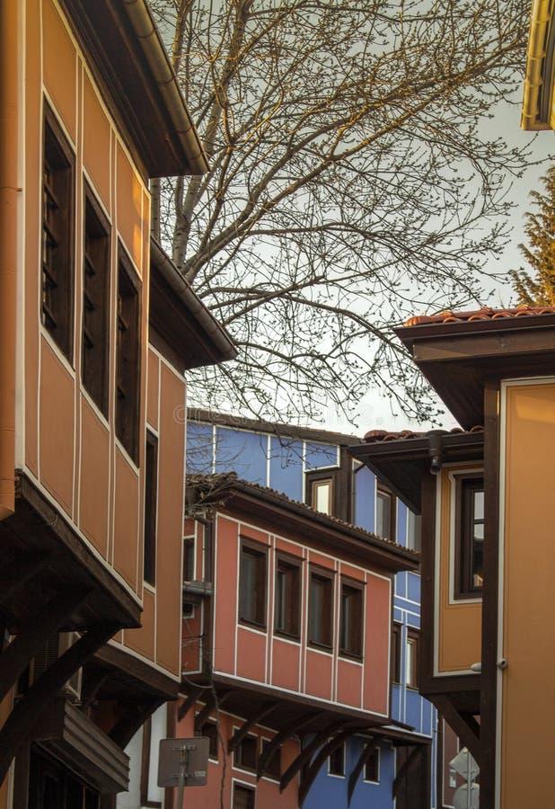 Архитектура старого городка Пловдива, который в 2019 стал европейской столицей культуры bulbed стоковая фотография