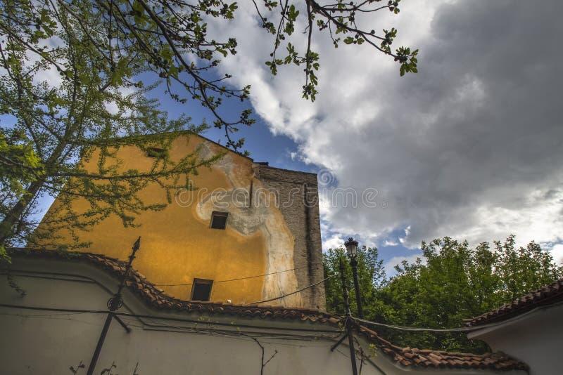 Архитектура старого городка Пловдива, который в 2019 стал европейской столицей культуры bulbed стоковые изображения