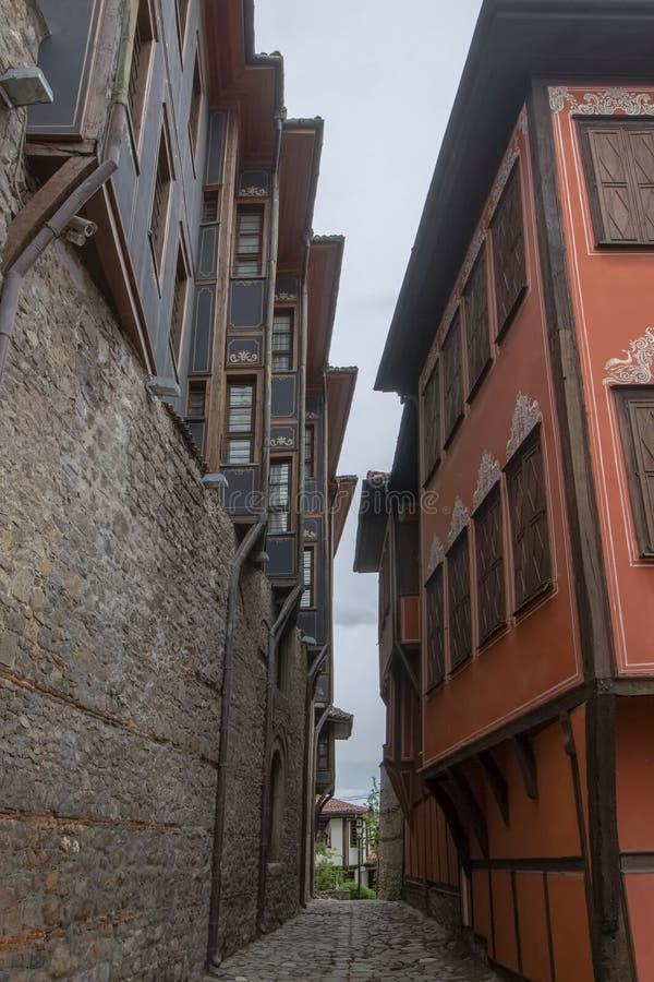 Архитектура старого городка Пловдива, который в 2019 стал столицей культуры в Европе стоковое изображение