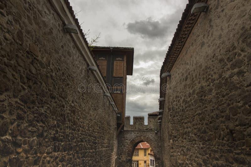 Архитектура старого городка Пловдива, который в 2019 стал столицей культуры в Европе стоковые фото
