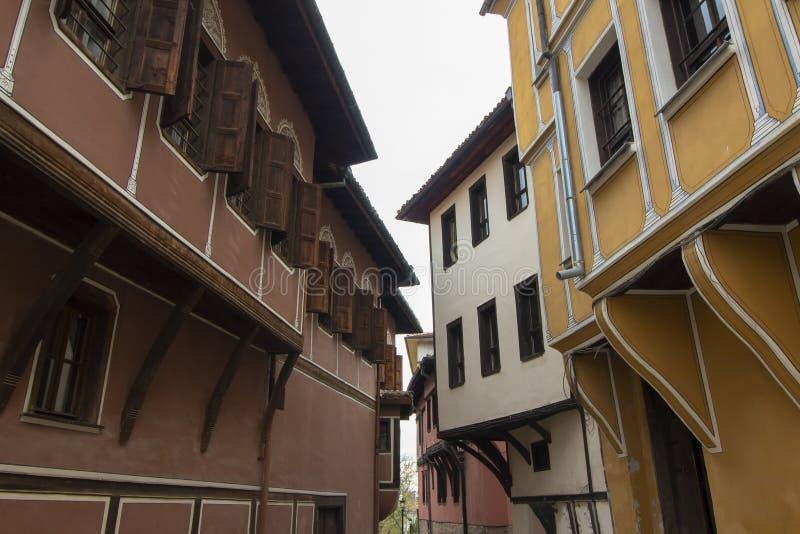 Архитектура старого городка Пловдива, который в 2019 стал столицей культуры в Европе стоковая фотография rf