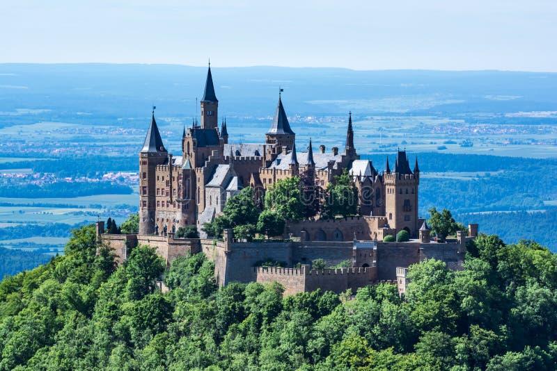 Архитектура старый De замка Hohenzollern Burg немецкая европейская стоковое изображение rf