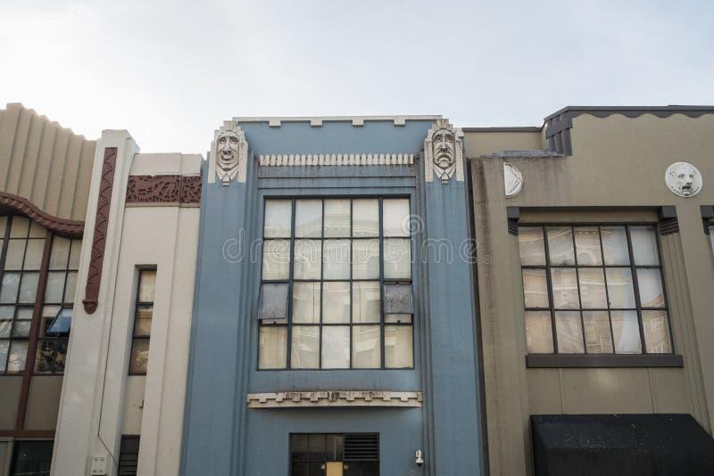 Архитектура стиля Арт Деко Сан-Франциско стоковые изображения rf