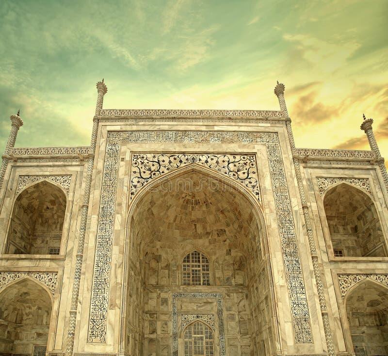 Архитектура Тадж-Махала Дели Агры стоковое фото