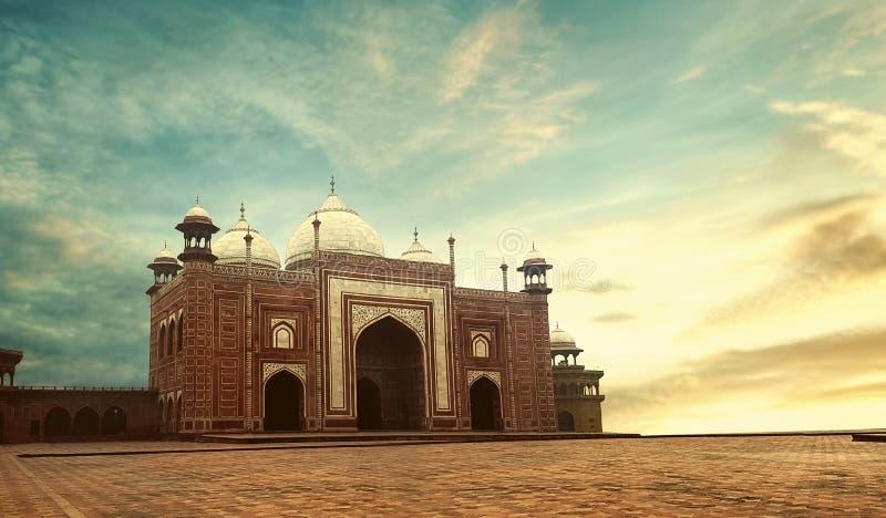 Архитектура Тадж-Махала Дели Агры стоковое изображение rf