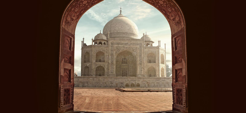 Архитектура Тадж-Махала Дели Агры стоковая фотография rf