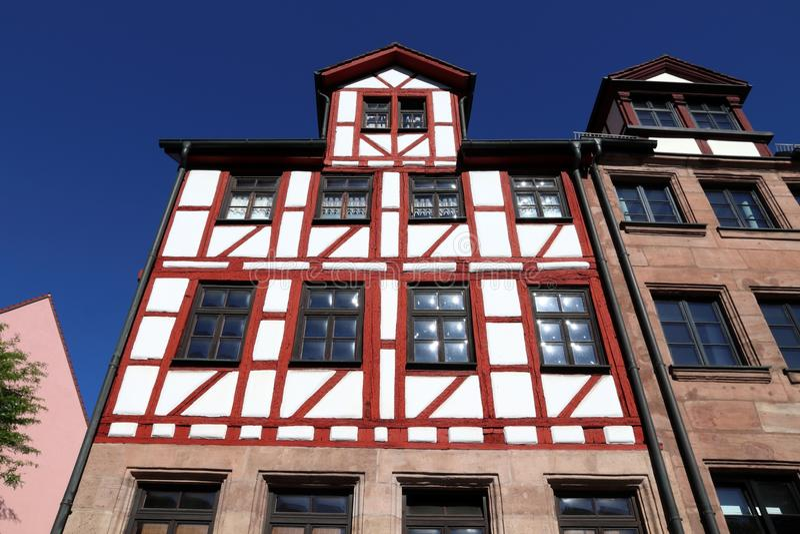 Архитектура тимберса обрамляя стоковая фотография