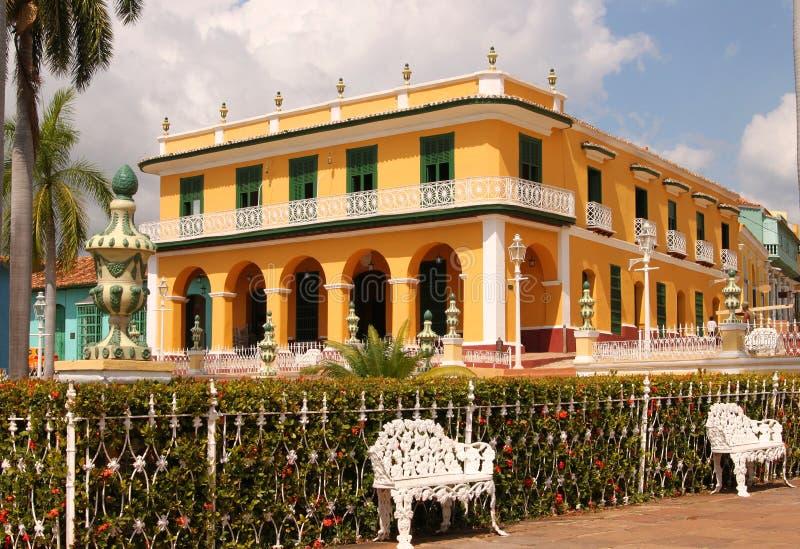Архитектура Тринидада, Кубы стоковое изображение rf