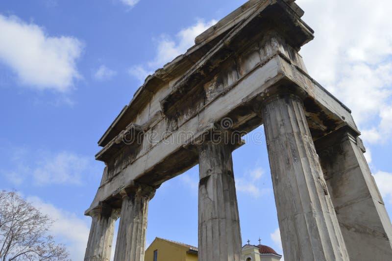 Архитектура Athen Греции очень старая стоковые фото