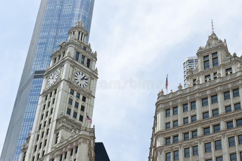 Архитектура Highrise в Чикаго стоковая фотография rf