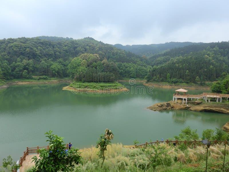 Архитектура Pavilionancient воды китайская стоковое фото rf