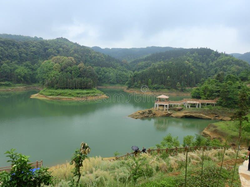 Архитектура Pavilionancient воды китайская стоковая фотография rf
