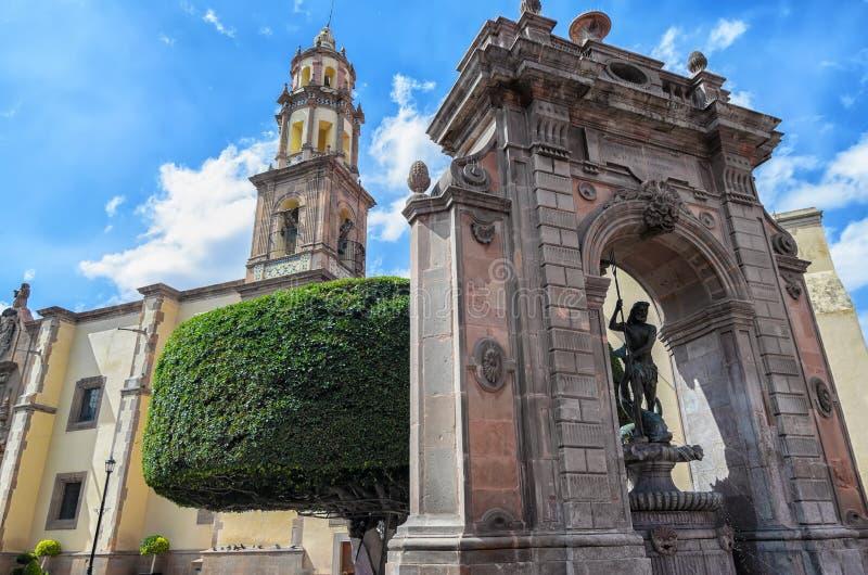 Архитектура Queretaro городская на солнечный день стоковая фотография