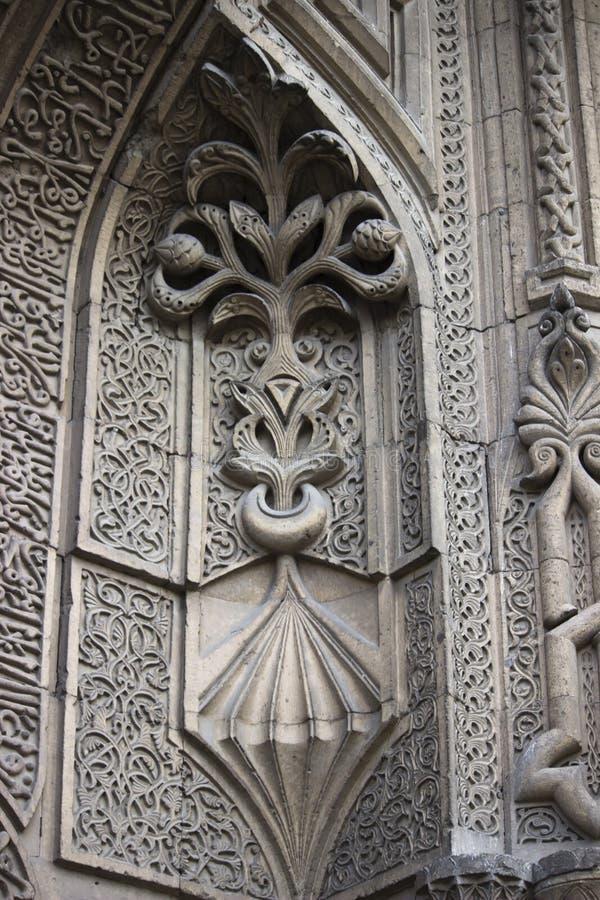 Архитектура Seljuk высекая деталь стоковые изображения rf