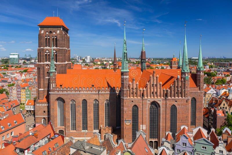 Архитектура St Mary & x27; базилика в Гданьск, Польша s стоковое фото rf