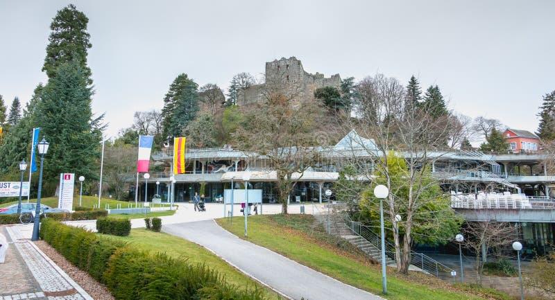 Архитектурноакустическая деталь средневекового замка Badenweiler стоковая фотография