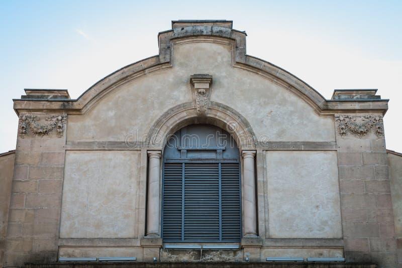 Архитектурноакустическая деталь театра Henri Maurin Marseillan стоковая фотография