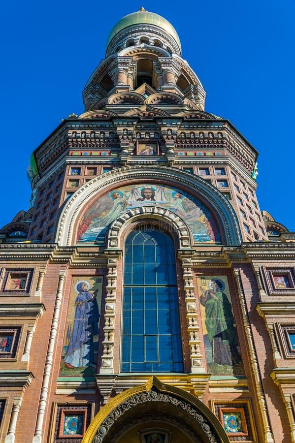 Архитектурноакустическая деталь церков спасителя на крови стоковая фотография