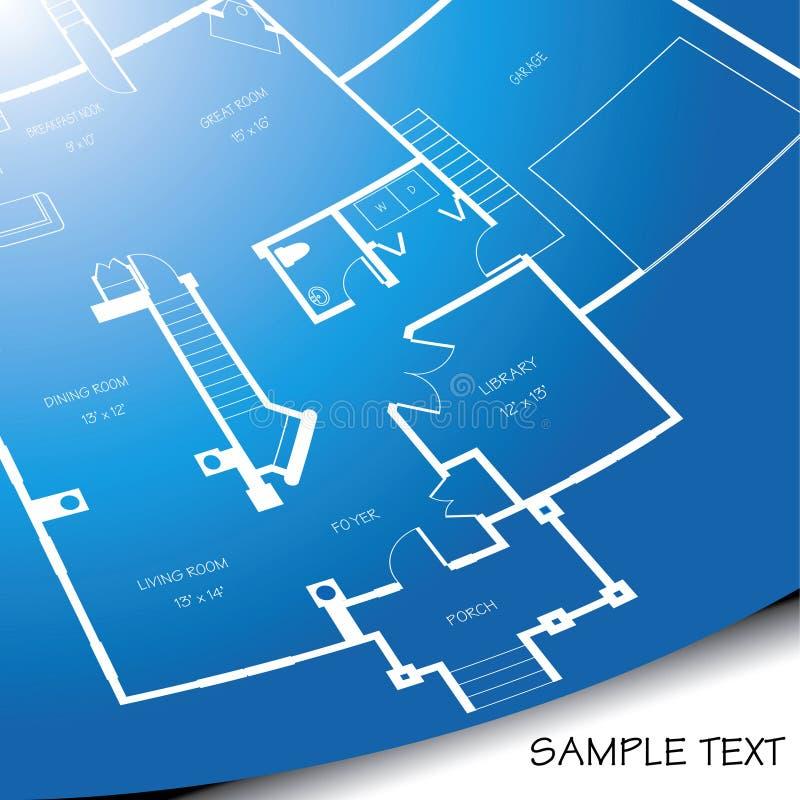 архитектурноакустическая светокопия иллюстрация штока