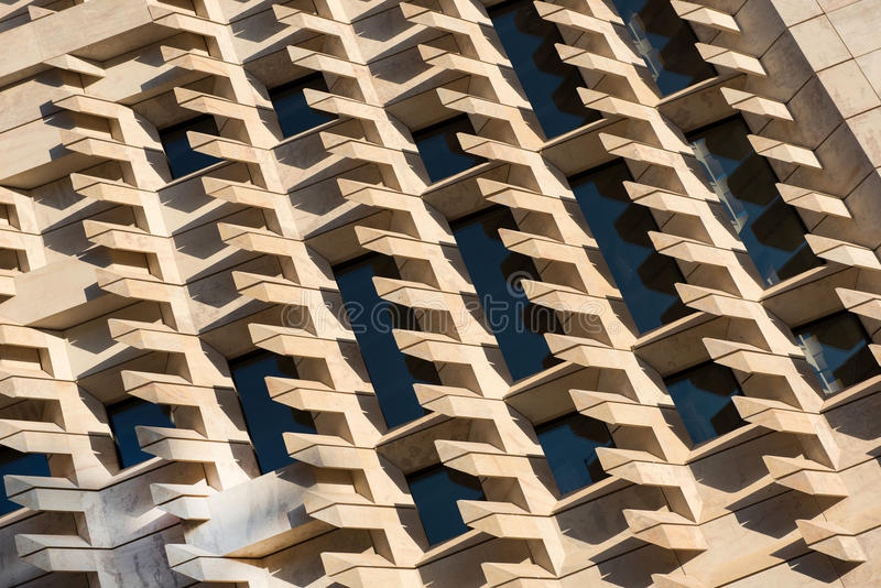 Архитектурноакустические абстрактные геометрические картины и линии стоковая фотография